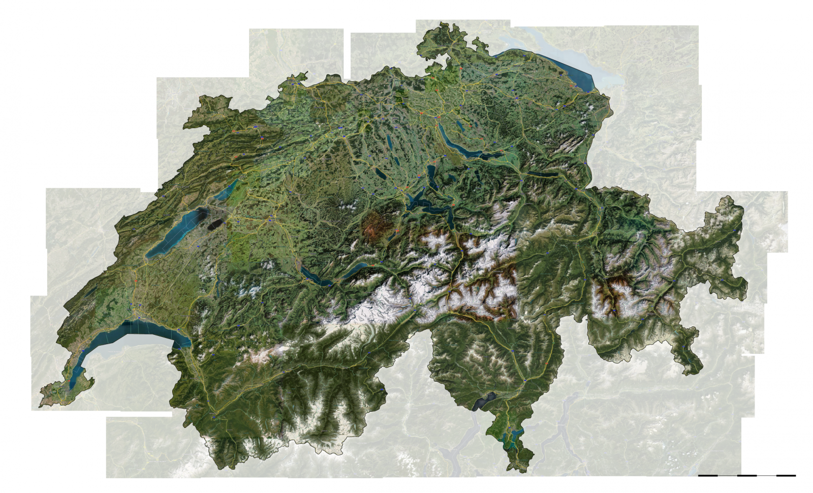 Maps parallel sprawl switzerland as seen by google earth gumiabroncs Gallery